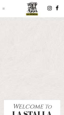 Vorschau der mobilen Webseite www.lastallarestaurant.com, Ristorante La Stalla