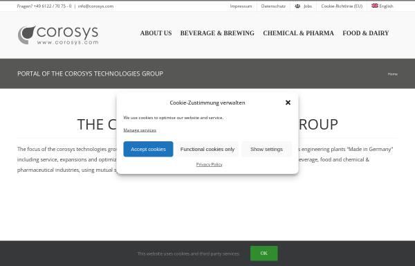 Vorschau von www.corosys.com, Corosys Prozeßsysteme und Sensoren GmbH