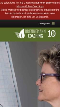Vorschau der mobilen Webseite www.brennemann-coaching.ch, Business & Karriere Coaching Kirsten Brennemann