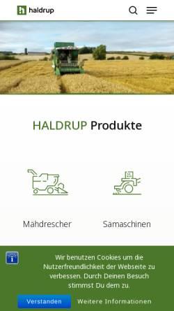 Vorschau der mobilen Webseite www.haldrup.de, Haldrup - Inotec Engineering GmbH