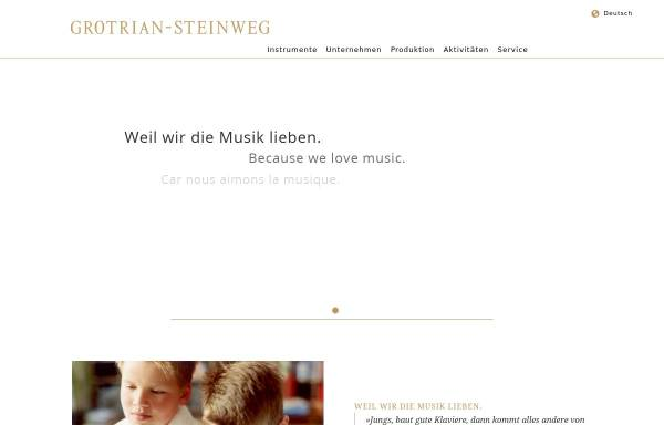 Vorschau von www.grotrian.de, Grotrian, Helfferich, Schulz, Th. Steinweg Nachf. GmbH & Co. KG