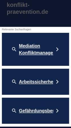 Vorschau der mobilen Webseite www.konflikt-praevention.de, Sascha Hartweger
