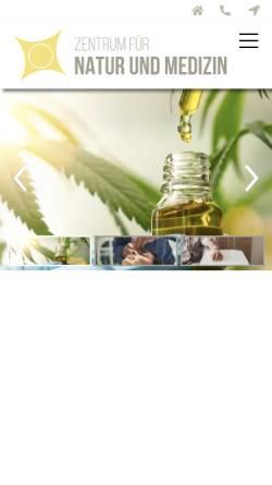 Vorschau der mobilen Webseite www.natumed.de, Zentrum für Natur und Medizin, Praxis Prof. Dr. med. Breivogel
