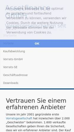 Vorschau der mobilen Webseite www.assetfinance.de, Assetfinance & Lease GmbH