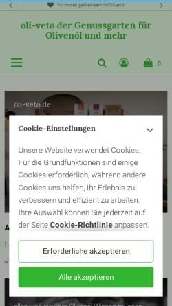 Vorschau der mobilen Webseite www.oli-veto.de, Oli-veta O.Heimermann