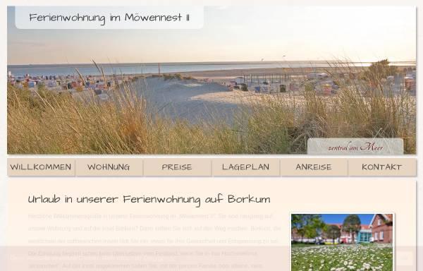 Vorschau von www.ferienwohnungborkum.de, Ferienwohnung Möwennest 2