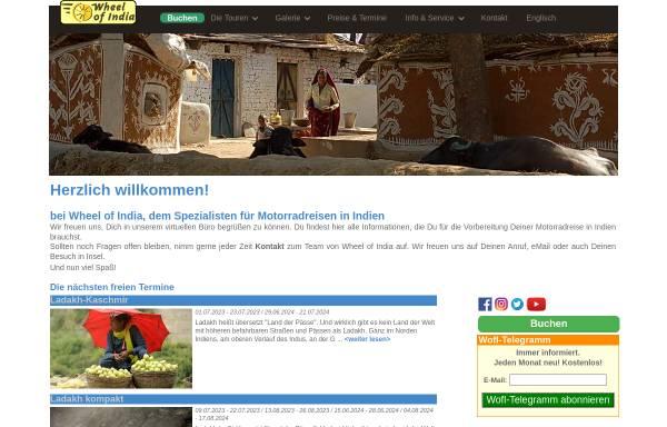 Vorschau von wheelofindia.de, Wheel of India GmbH