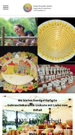 Vorschau der mobilen Webseite www.kunst-keramik-atelier.de, Kunst-Keramik-Atelier Nadine May & Frank Bonert