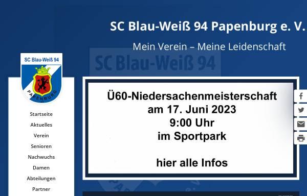 Vorschau von www.bw-papenburg.de, SC Blau-Weiß 94 Papenburg