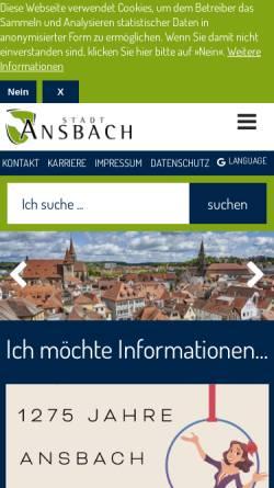 Vorschau der mobilen Webseite www.rokoko-festspiele.de, Ansbacher Rokoko-Festspiele