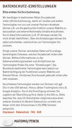 Vorschau der mobilen Webseite www.platow.de, Platow Online - Springer Fachmedien Wiesbaden GmbH