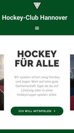 Vorschau der mobilen Webseite www.hchannover.de, Hockey Club Hannover e.V.