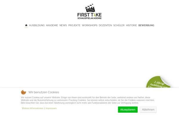 Vorschau von firsttake-schauspielakademie.de, First Take Schauspielakademie