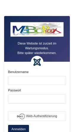 Vorschau der mobilen Webseite www.mebopax.de, MeBoPax - so macht packen Spaß