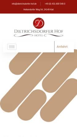 Vorschau der mobilen Webseite hotel-kiel.info, Hotel Dietrichsdorfer Hof