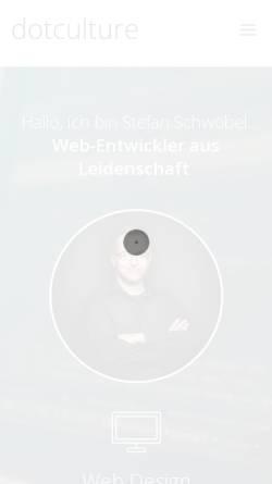 Vorschau der mobilen Webseite www.dotculture.de, Dotculture, Stefan Schwöbel