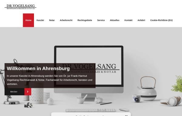 Vorschau von www.anwalt-vogelsang.de, Anwaltskanzlei Vogelsang