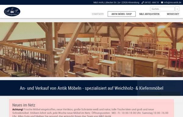 Vorschau von www.ms-antik.de, M & S Antiquitäten
