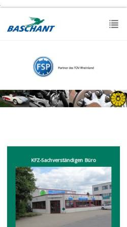 Vorschau der mobilen Webseite www.baschant.de, Sachverständigenbüro Baschant