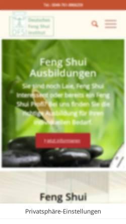 Vorschau der mobilen Webseite www.deutsches-fengshui-institut.de, Deutsches Feng Shui Institut