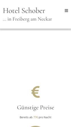 Vorschau der mobilen Webseite www.hotelschober.de, Hotel Restaurant Schober