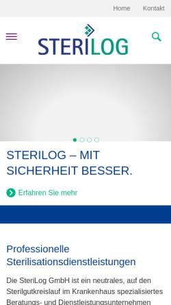 Vorschau der mobilen Webseite www.sterilog.com, Aesculap AG