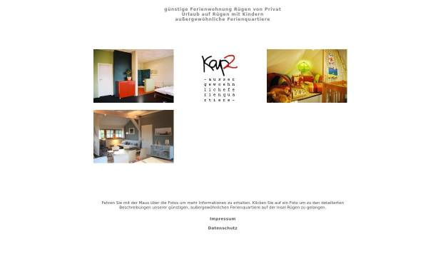 Vorschau von www.kap2.de, Ferienwohnungen Kap2