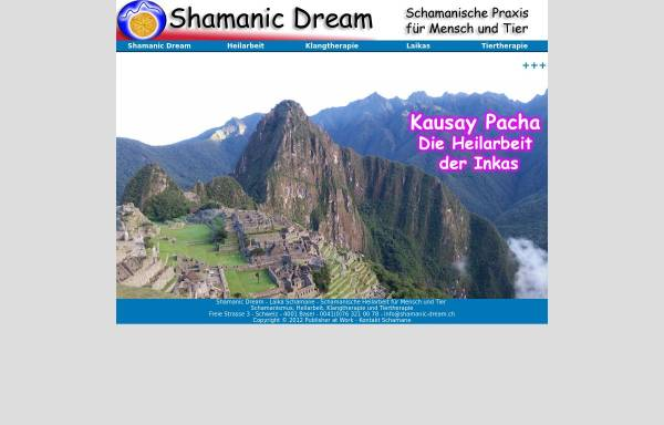 Vorschau von www.shamanic-dream.ch, Shamanic Dream