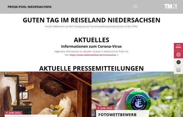 Vorschau von www.presse-niedersachsen.de, Presse-pool Niedersachsen - TourismusMarketing Niedersachsen GmbH (TMN)