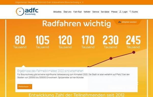 Vorschau von www.adfc-braunschweig.de, ADFC Kreisverband Braunschweig e.V.