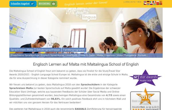 Vorschau von www.maltalingua.de, Maltalingua
