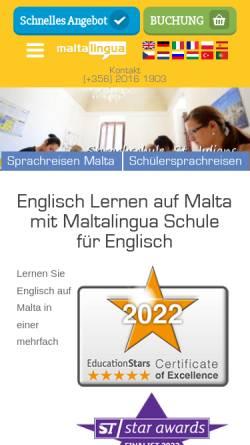 Vorschau der mobilen Webseite www.maltalingua.de, Maltalingua