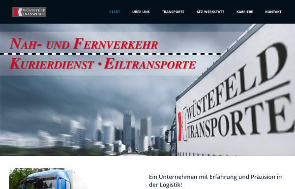 Vorschau von www.wuestefeld-transporte.de, Andreas Wüstefeld Transporte, Inh. Thomas Wüstefeld