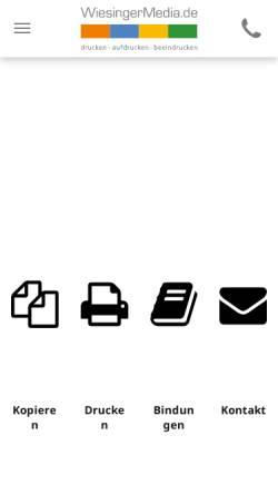 Vorschau der mobilen Webseite www.fellbach-copyshop.de, WiesingerMedia - ab Oktober 2010 auch in Fellbach