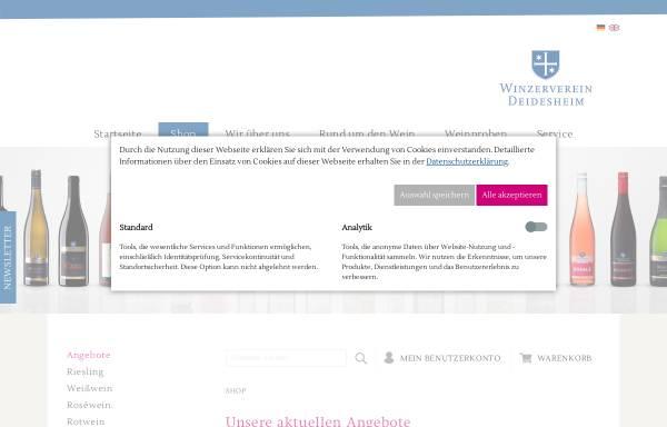 Vorschau von www.weingalerie-deidesheim.de, Vinothek & Weinhandlung für Weine aus Deidesheim