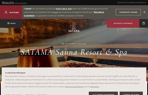 Vorschau von satama-saunapark.de, SATAMA Sauna Resort & SPA