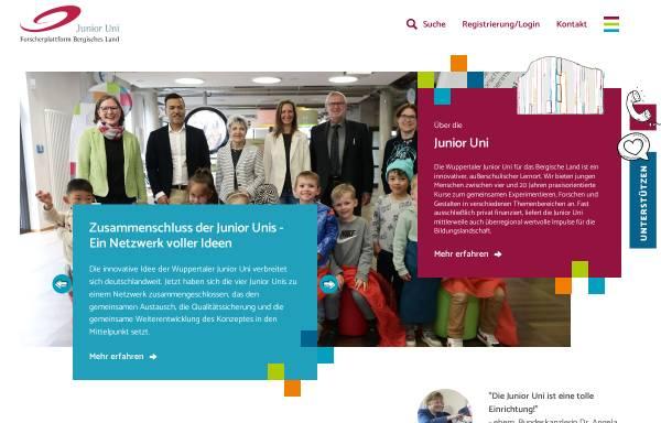 Vorschau von www.junioruni-wuppertal.de, Junior Uni - Forscherplattform Bergisches Land