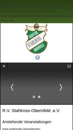 Vorschau der mobilen Webseite www.stahlross-obernfeld.de, Radfahrer Verein Stahlross-Obernfeld von 1905 e.V.