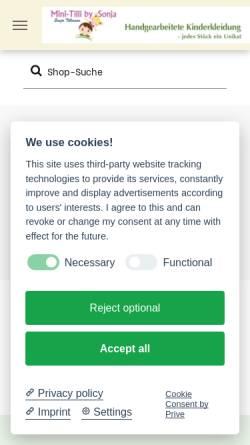 Vorschau der mobilen Webseite www.kinderkleidung-handarbeit.de, Werkstatt für Kinderkleidung