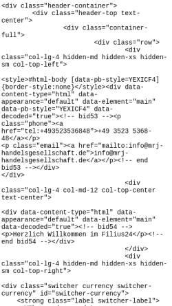 Vorschau der mobilen Webseite filius24.de, Filius24