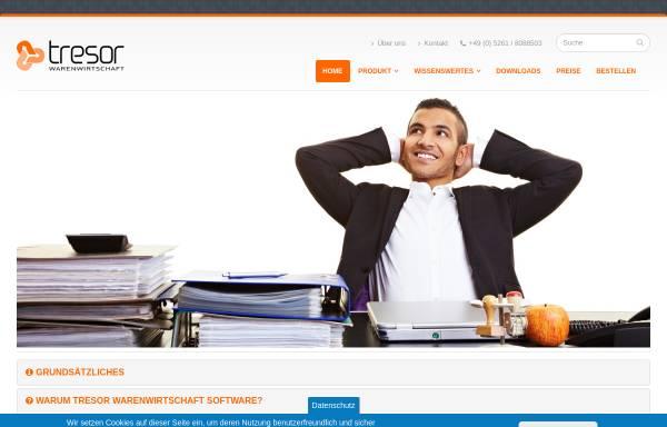 Vorschau von www.tresor-warenwirtschaft.de, Tresor Software GmbH