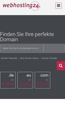 Vorschau der mobilen Webseite www.webhosting24.de, webhosting24 GmbH