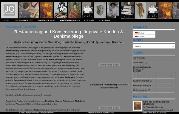 Restaurator München diplomrestauratorin j gens in münchen restaurierung bildende