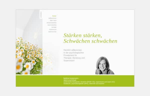 Vorschau von www.bettina-koopmann.de, Bettina Koopmann, Diplom-Psychologin