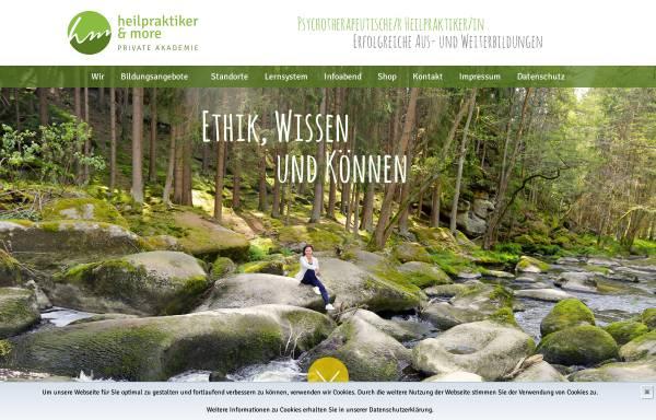 Vorschau von www.heilpraktikerandmore.de, Heilpraktiker and more