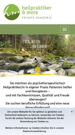 Vorschau der mobilen Webseite www.heilpraktikerandmore.de, Heilpraktiker and more