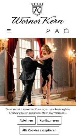 Vorschau der mobilen Webseite www.werner-kern.de, Tanzschuhe - Werner Kern Tanzschuh GmbH