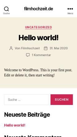 Vorschau der mobilen Webseite www.filmhochzeit.de, Filmhochzeit, Inh. Sven Dittgen