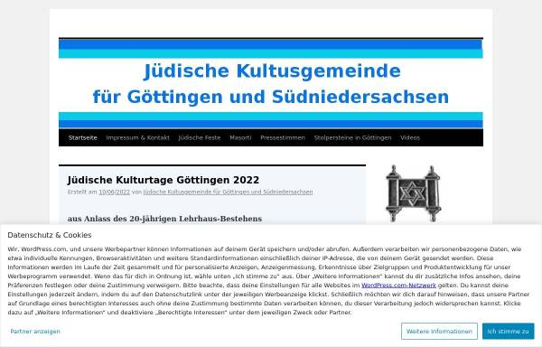 Vorschau von jkg-goettingen.org, Jüdische Kultusgemeinde für Göttingen und Südniedersachsen