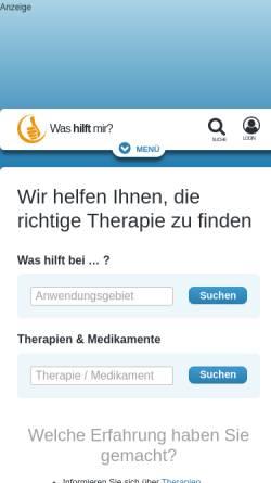 Vorschau der mobilen Webseite www.was-hilft-mir.com, Was hilft mir?